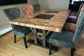 diy butcher block table custom furniture style dining room tables coffee
