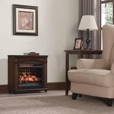 chimneyfree electric infrared quartz fireplace space heater with remote 5 200 btu cherry com
