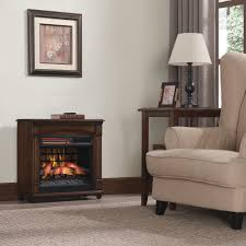 chimneyfree electric infrared quartz fireplace space heater with remote 5 200 btu cherry com