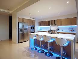 Kitchen Lighting, Kitchen Light Fixture With Led Strip Light Under Cabinet  And Kitchen Island: ...