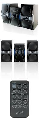 sound system with cd player. compact and shelf stereos: bluetooth home stereo system cd player fm radio music ipod speaker sound with