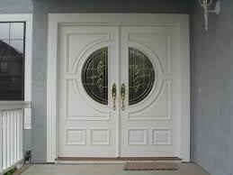 home element furniture. Outstanding Double Entry Door As Home Element Design Ideas : Interesting White And Round Glass Furniture