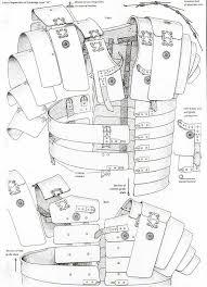 Drawn armor roman - Pencil and in color drawn armor roman