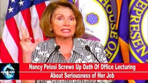 Image result for photo of nancy pelosi taking oath of office