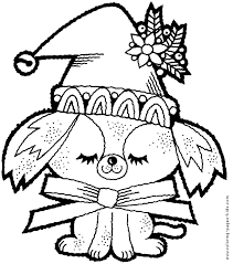 Small Picture Christmas dog color page Christmas Coloring pages Holiday