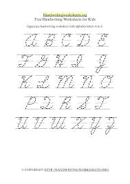 Cursive Capital Alphabet Printable Cursive Practice