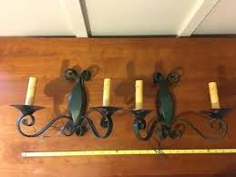 wall sconce set tole wall sconce set pair antique decorative black wrought iron candle wall sconce wall sconce set