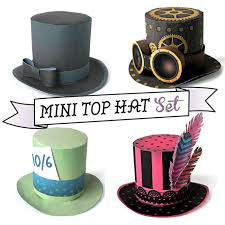 easy assemble paper no sew mini top hat templates for parties fiestas simple instructions on how to make a mini top hat