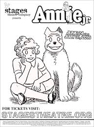 Annie Jr Coloring Page Tickets Http