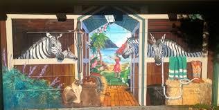painting garage doorHow quirky is Berkeley Painted garage doors  Berkeleyside