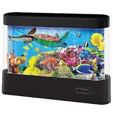 Image Is Loading Led Animated Scene Aquarium Fish Tank Mood Night