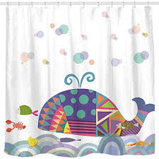 Cool shower curtains for kids Walmart Sunlit Colorful Geometric Whale Waves Bubble Shower Curtain With Cute Marine Life Tropical Fish Shrimp Ohilaorg Childrens Shower Curtains Amazoncom