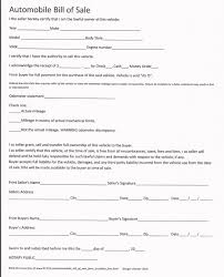 Bill Of Sale Auto California Utah Vehicle Bill Ofe Example California Sample Free Ontario Letter