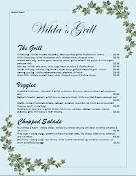 Word Restaurant Menu Templates Menu Templates For Microsoft Word Salonbeautyform Com