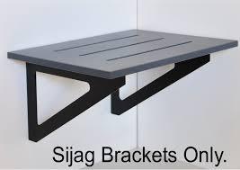 450mm wide wall bench seat bracket galvanized