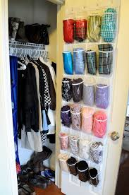 Finally, an inexpensive and practical scarf/hat/glove storage idea! Not sure