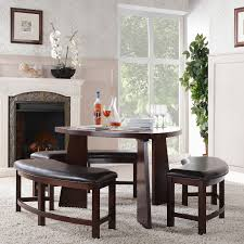 triangular dining tables with bench