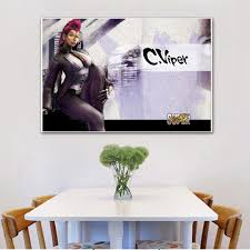 Hd Home Decor Canvas Woonkamer Modern Game Street Fighter Art Chunli