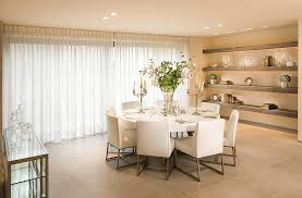 Floating shelves dining room dining room modern with white dining room  window treatments table setting