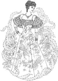 Small Picture Victorian Women Gathering Realistic Coloring Pages For Adults