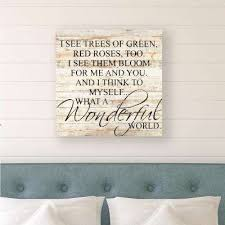 what a wonderful world reclaimed wood decorative sign