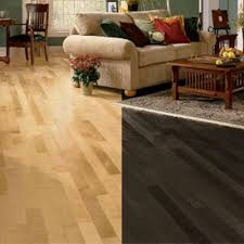 dark and light hardwood floor parison