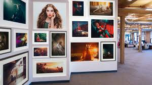 how to place art on a wall in photo