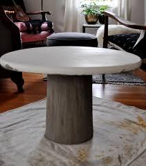 concrete base on diy outdoor concrete table