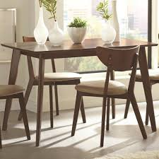 table for kitchen: coaster  home furnishings dining table chestnut
