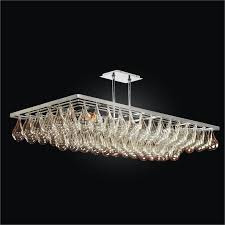 modern rectangular chandelier genesis 635gd45sp