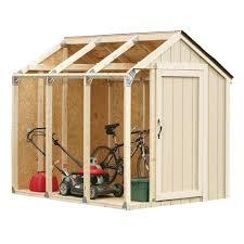 2 x 4 basics shed kit with peak roof