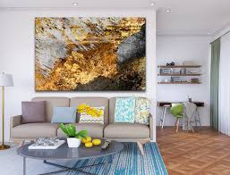 gold abstract art grey gold wall art
