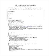 Sample New Hire Checklist Template Extraordinary Document Checklist Template Arttionco