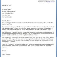 Truck Driver Cover Letter Template Images - Cover Letter Ideas