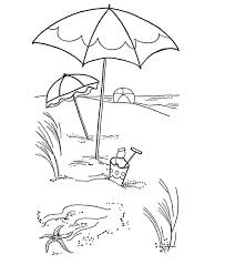 Small Picture Lovely Beach Umbrella on a Sandy Beach Coloring Page Download