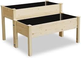 lynslim wooden 2 tiers elevated raised