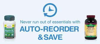 never run out of essentials with auto reorder save