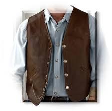 coronado men s genuine bison leather laredo concealed carry vest