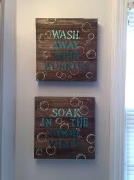 Bathroom Wall Decor Wood Canvas Home Furniture Ideas Bathroom Wall