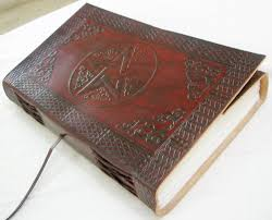 handmade leather bound book of shadows blank journal vine diary embossed writing notebook celtic