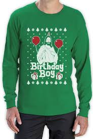 Jesus Birthday Boy Ugly Christmas Sweater Long Sleeve T-Shirt ...