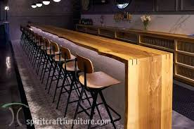 live edge ash bar top from kiln dried slabs for area brewery and restaurant wood height