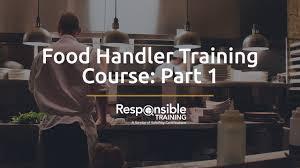 food handler training course part 1