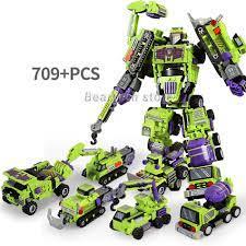 Bộ Đồ Chơi Lắp Ráp Robot Biến Hình 709+6 Trong 1