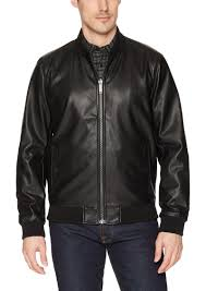 calvin klein men s reversible faux leather jacket