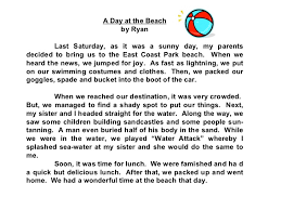 a day at beach essay a day at the beach essays 1 30 anti essays