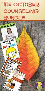 October Counseling Bundle Coping Skills School Counseling And
