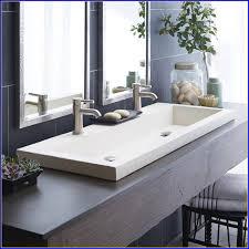 double faucet bathroom sink vanity. trough bathroom sink vanity double faucet e