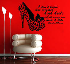 marilyn monroe quote wall decals trendy quote decal high heels wall sticker  i do not decoration