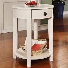 small round white side table sevenstonesinc side table with drawer mike ferner small white round watchthetrailerfo